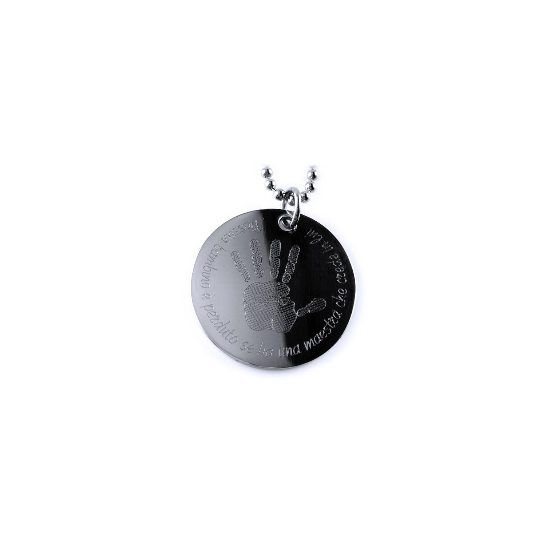 Collana per la MAESTRA acciaio inox