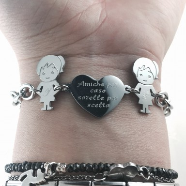"Bracelet ""My Family"" FRIENDS BY CASE SISTERS FOR CHOICE"