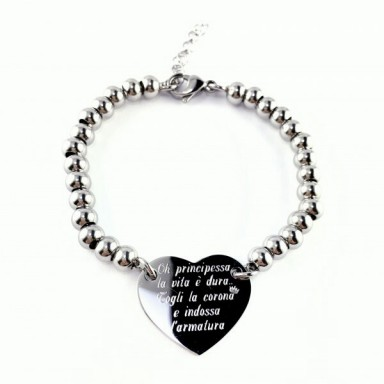 Bracelet Warrior princess in stainless steel