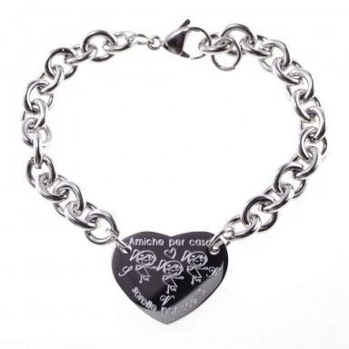 3 Best Friend bracelet in stainless steel