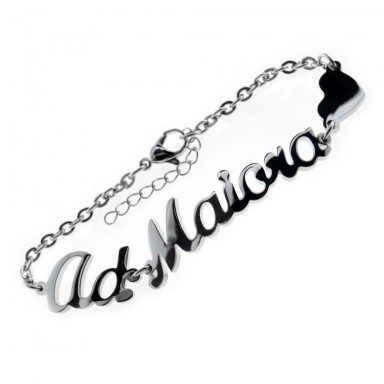 Ad Maiora bracelet in stainless steel