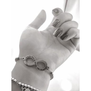 Beads Bracelt FRIENDSHIP infinity in stainless steel