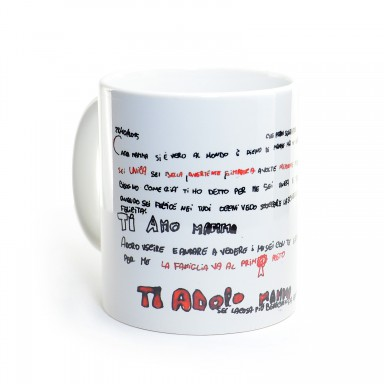 Mug with a child's drawing
