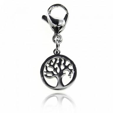 Charm albero della vita in acciaio inox
