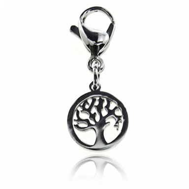 Stainless steel tree of life charm