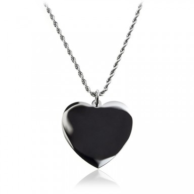 Heart necklace with stainless steel rope chain