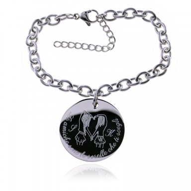 "Bracelet ""Friends are the sisters you choose"" in stainless steel"
