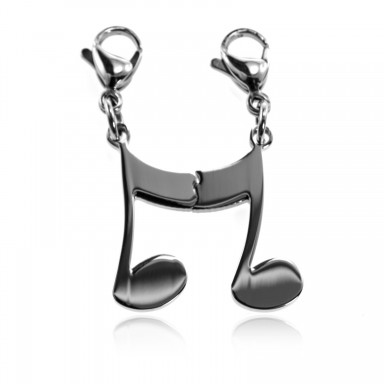 Coppia charm nota musicale