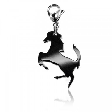 Horse charm in stainless steel