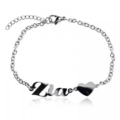 """""""ZIA"""" bracelet in stainless steel"""