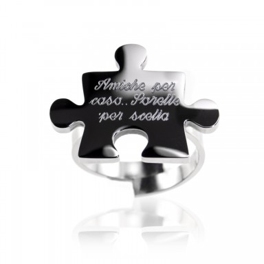 Adjustable stainless steel puzzle ring