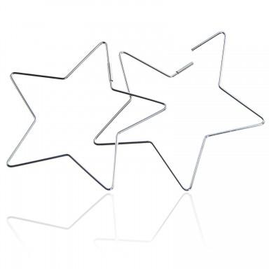Orecchini stelle in acciaio inox