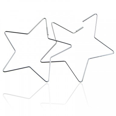 Star earrings in stainless steel