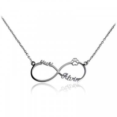 Infinity PET necklace in stainless steel