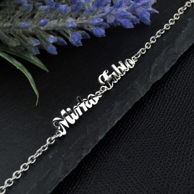 Name bracelet in stainless steel