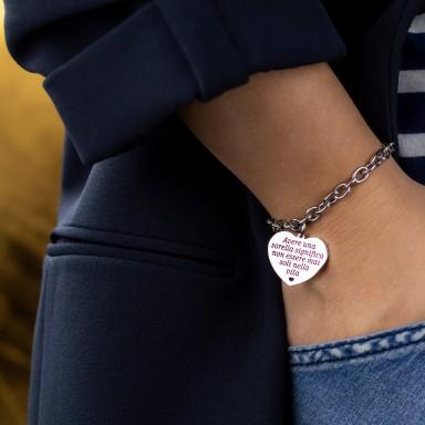 Stainless steel sister bracelet