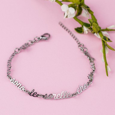 Bracelet Friends are the sisters you choose in stainless steel