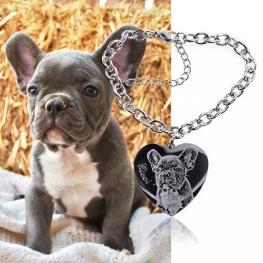 Photo Heart bracelet with chain