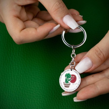 Keychain Cactus Balloon in stainless steel