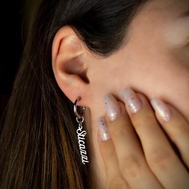 Single sticazzi earring in stainless steel