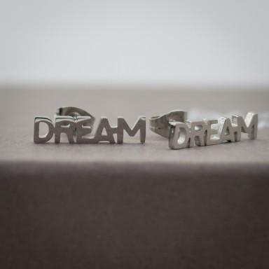"""Pair of """"dream"""" micro earrings in stainless steel"""