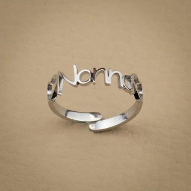 Grandma ring in stainless steel