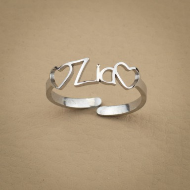 stainless steel aunt ring