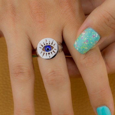 Adjustable eye ring in stainless steel