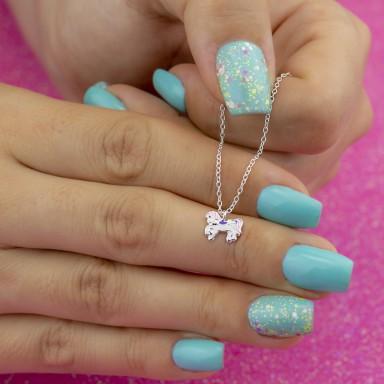 Collana unicorno viola e rosa in argento 925