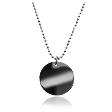 Round necklace in stainless steel