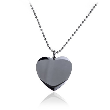 Custom heart necklace in stainless steel