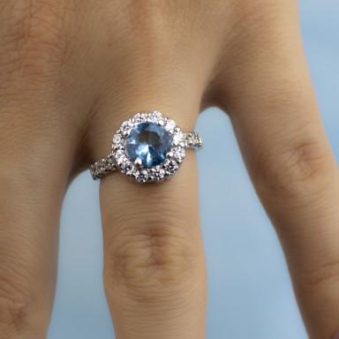 MARINA ring in 925 rhodium silver