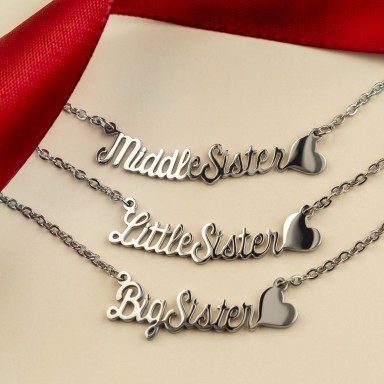3 necklace sister in stainless steel