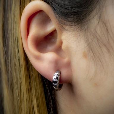 Hoop earring in stainless steel
