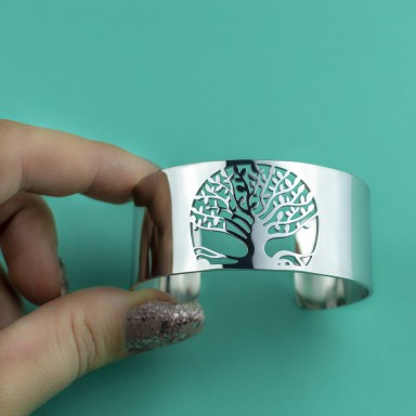 Bracelet with tree of Life in stainless