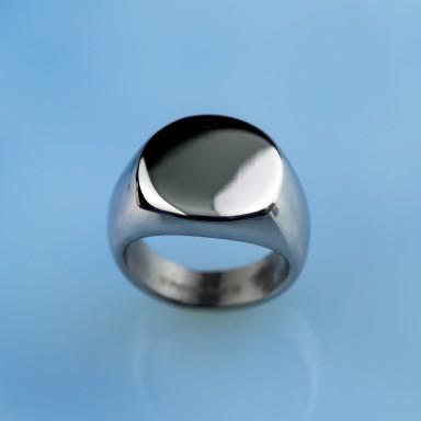 Anello da mignolo con incisione personalizzata in acciaio inox