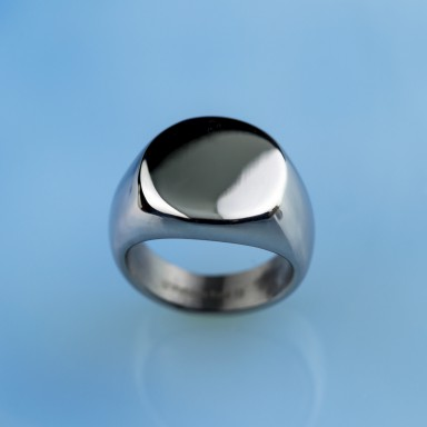 Little finger ring with personalized stainless steel engraving