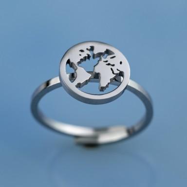 Anello mondo medio regolabile in acciaio inox