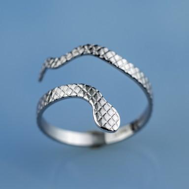 Anello serpente regolabile in acciaio inox