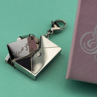 Charm Sachet I Love You in stainless steel