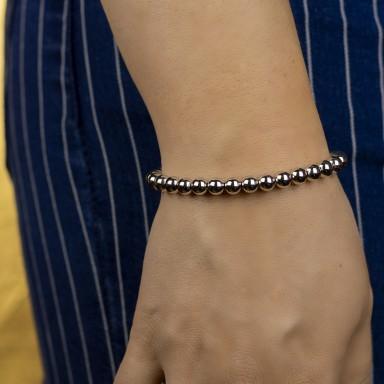 Bracelet 0,6 cm balls in 925 silver