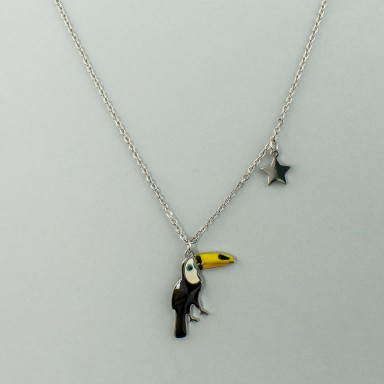 Toucan necklace in stainless steel