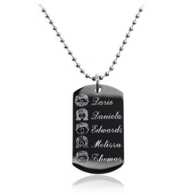 Custom rectangular necklace