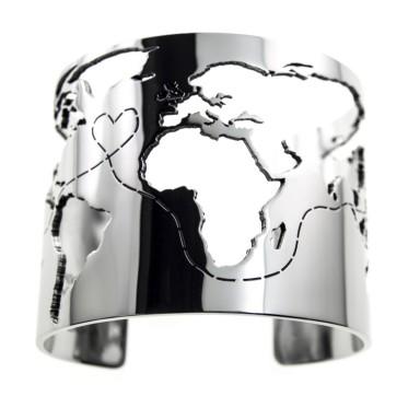 Bracciale AROUND THE WORLD in acciaio inox