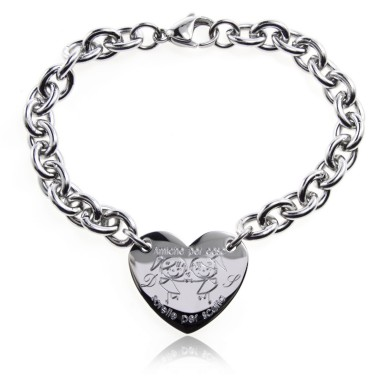 Friend Sisters bracelet heart in stainless steel