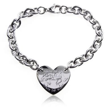 Friend Sisters bracelet heart