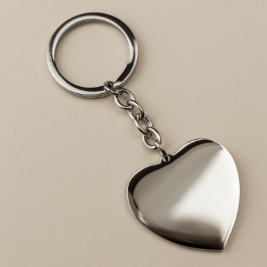 Heart Keychain in stainless steel