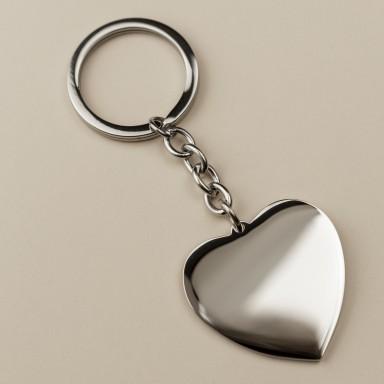 Portachiavi a cuore personalizzabile in acciaio inalterabile