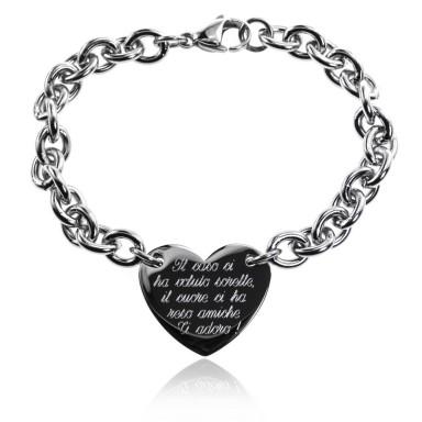 Heart bracelet for sisters
