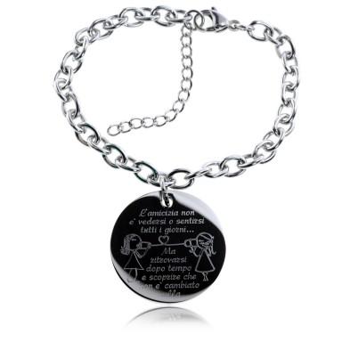 Friendship bracelet in stainless steel